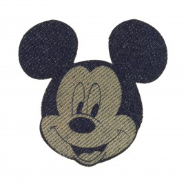 Disney Mickey Iron-On Patch - Sepia