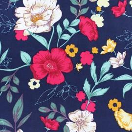 Rayon fabric - Red Bucolic Garden x 20cm