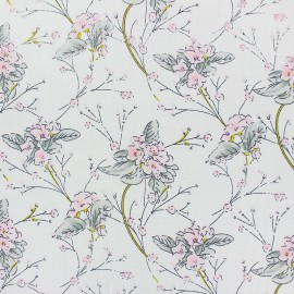 Rayon fabric - White Sakura x 20cm