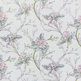 Tissu rayonne Sakura - blanc x 20cm