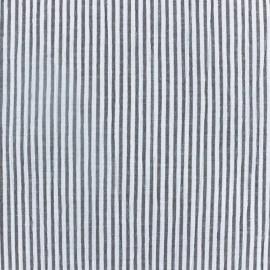 Tissu Seersucker rayé - Taupe x 10cm