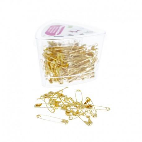 28 mm Safety Pins (216 pcs) - Gold