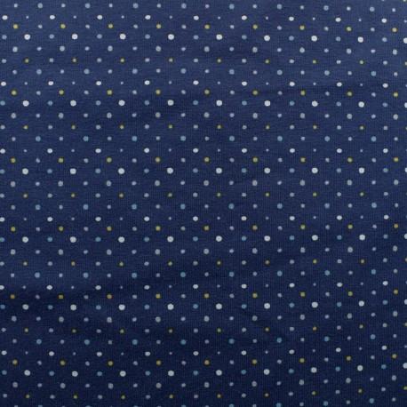 Cotton jersey fabric - grey dot x 10cm