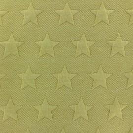 ♥ Coupon 50 cm X 140 cm ♥  Jersey jacquard fabric Stars - ochre