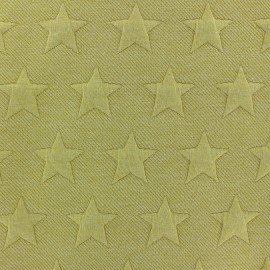 ♥ Coupon 50 cm X 140 cm ♥  Tissu jersey jacquard Stars - ocre