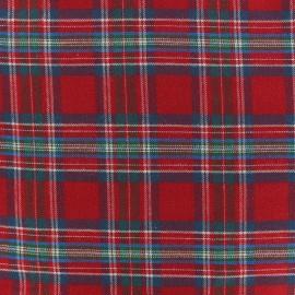Tissu coton gratté Arthus - Rouge x 10cm