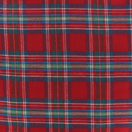Tartan fabric - Red Barty x 10cm