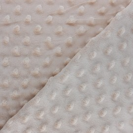 Dotted minkee velvet fabric - Teddy bear brown x 10cm
