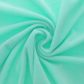 Minkee velvet fabric - mint green x 10cm