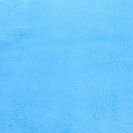 Tissu Velours minkee doux ras - bleu turquoise x 10cm