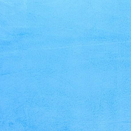 Minkee velvet fabric - denim blue x 10cm