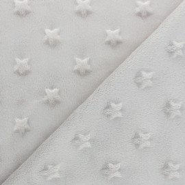 Star minkee velvet fabric - black x 10cm