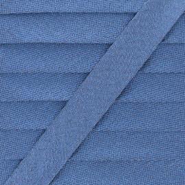 Biais Lamé Soir de Fête - Bleu Acier x 1m