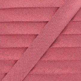 Biais Lamé Soir de Fête - Rouge x 1m