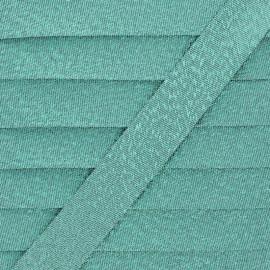Biais Lamé Soir de Fête - Vert x 1m