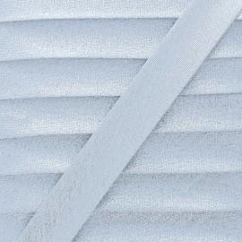 Soir de Fête Bias Binding - Silver x 1m