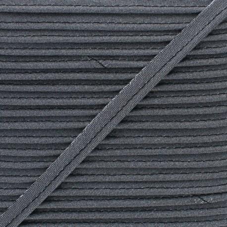 Soir de Fête Lamé Piping - Grey x 1m