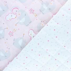 Tissu matelassé Réversible Deli-cats/Precious - rose x 10cm