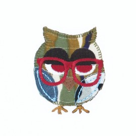 Owl Iron-On Patch - L