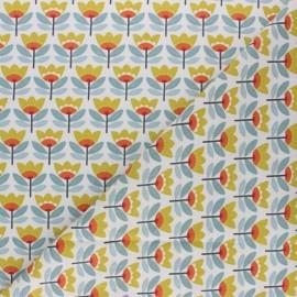 Tissu coton cretonne enduit Sven - jaune x 10cm