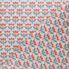 Coated cretonne Cotton fabric - orange Sven x 10cm