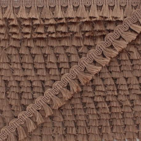 Pompom Trimming Ribbon - Chestnut Finette x 1m