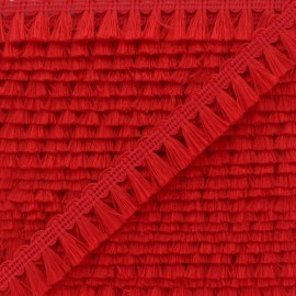 Galon Mini Pompon Finette - Rouge x 1m