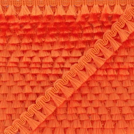 Pompom Trimming Ribbon - Orange Finette x 1m