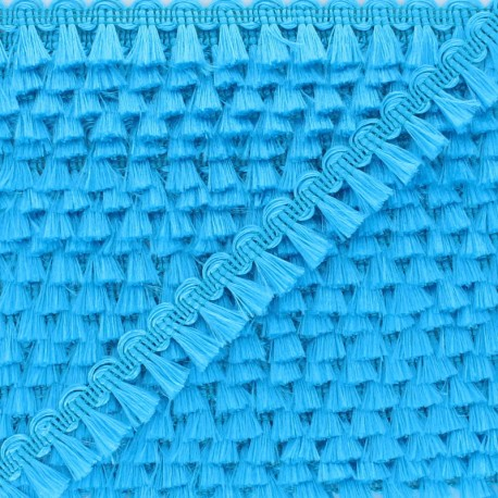 Pompom Trimming Ribbon - Blue Finette x 1m