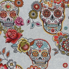 Jacquard fabric - white Cristobal x 50cm