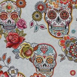 Jacquard fabric - white Cristobal x 50cm