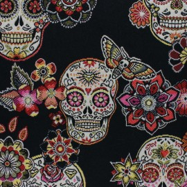 Jacquard fabric - black Cristobal x 50cm