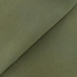 Tissu coton sergé kaki x 10cm