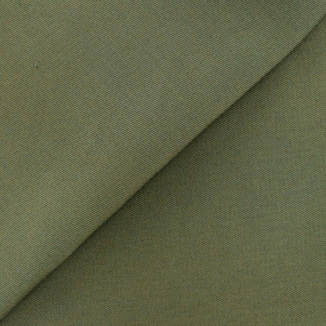 Twill Cotton Fabric - khaki x 10cm