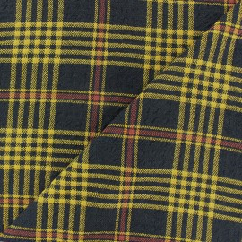♥ Coupon 160 cm X 140 cm ♥ Embossed Viscose fabric - yellow Alexander