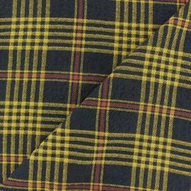 Tissu Viscose gaufré Alexander - jaune x 10cm