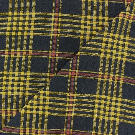 Embossed Viscose fabric - yellow Alexander x 10cm