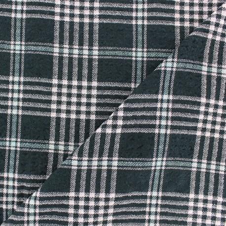 Embossed Viscose fabric - white Alexander x 10cm