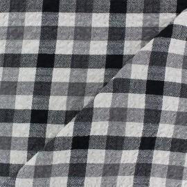 Tissu Viscose gaufré Arthur - blanc x 10cm