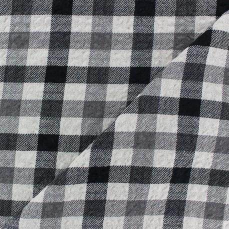 Embossed Viscose fabric - white Arthur x 10cm