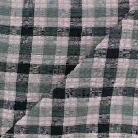 Embossed Viscose fabric - pink Arthur x 10cm