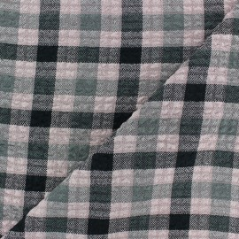 Tissu Viscose gaufré Arthur - rose x 10cm