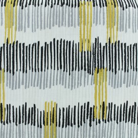 Tissu coton Froufrou Tokyo - noir x 10cm