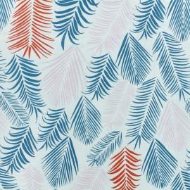 Froufrou cotton fabric - Turquoise Rio x 10cm