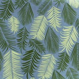 Tissu coton Froufrou Rio - Turquoise/blanc x 10cm
