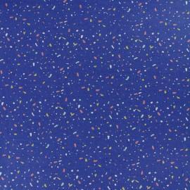 Tissu coton Froufrou Memphis - bleu marine x 10cm
