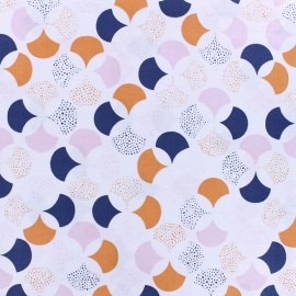 Tissu coton Froufrou Lisbonne - blanc poudré x 10cm