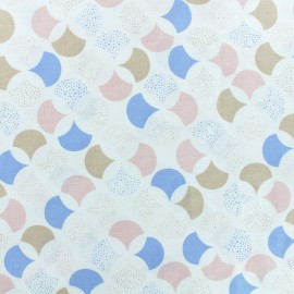 Froufrou cotton fabric - white Lisbonne x 10cm