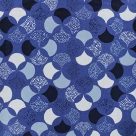 Froufrou cotton fabric - light blue Lisbonne x 10cm