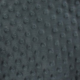 Soft relief minkee velvet Fabric - Anthracite Grey dots x 10cm